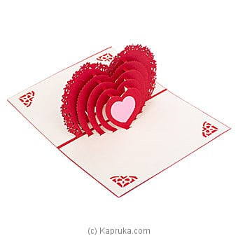3D Heart Pop Up Greeting Card Online at Kapruka | Product# greeting00Z191
