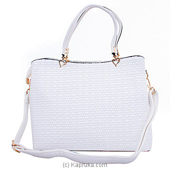 Ladies Handbag- White Online at Kapruka | Product# fashion001319