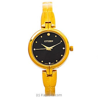 Citizen Ladies Gold Watch With Black Dial Online at Kapruka | Product# jewelleryW00785