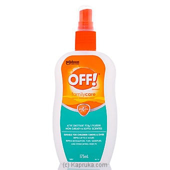 Off Family Care Insect Repellent Pump 175g Online at Kapruka | Product# grocery001361