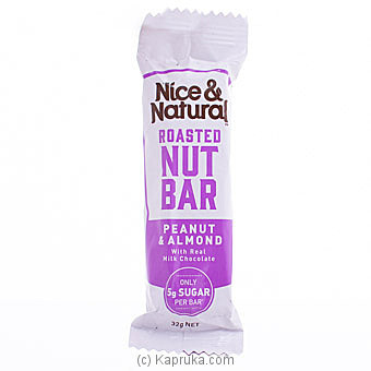 Nice And Natural Roasted Nut Bar- Peanut And Almond 32g Online at Kapruka | Product# grocery001410