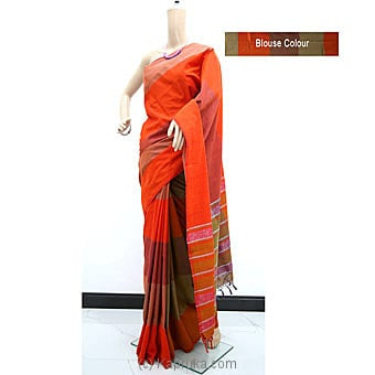 Orange Color Standard Cotton Saree-c1330 Online at Kapruka | Product# clothing0875