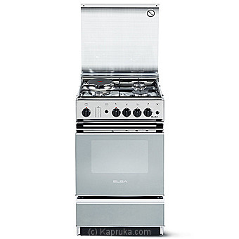 Elba Cooker With 3 Gas Burners - 1 Hot Plate With Gas Oven - 50cm - Ss EBCK55X320 Online at Kapruka | Product# elec00A2213