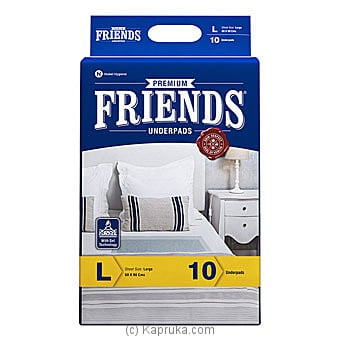 Friends Under Pads (premium)- Pack Size 10- Large Online at Kapruka | Product# elder00164