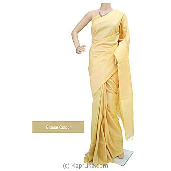 Light Yellow Rayon Mixed Cotton Handloom Saree -S1301 Online at Kapruka | Product# clothing01075