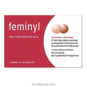 Feminyl Oral Contraceptive Pills Online at Kapruka | Product# grocery001445