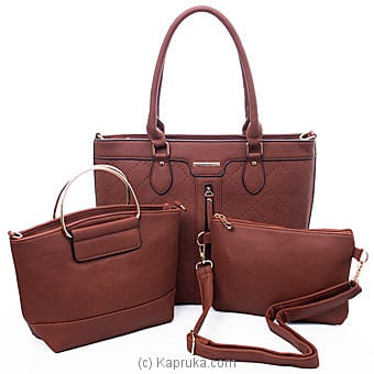 Women`s 3 Piece Handbag Set Online at Kapruka | Product# fashion001447