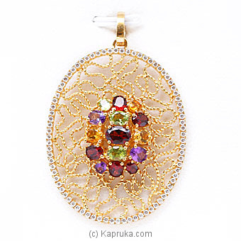 Vogue 22k Gold Pendant With 15 Color Stone Online at Kapruka | Product# vouge0099