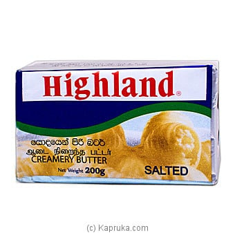 Highland Salted Butter 200g Online at Kapruka | Product# grocery001545