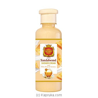 Rani Sandalwood Shower Cream With Honey, Venivel And Turmeric 250ml Online at Kapruka | Product# grocery001592