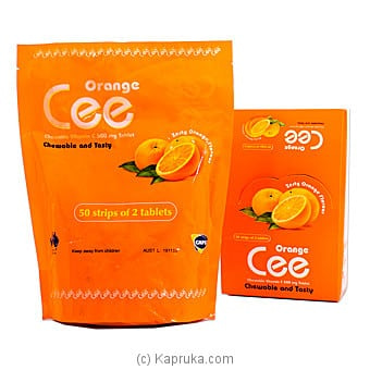 Cee Chewable Vitamin C- Orange- 50 Strips Of 2 Tablets Online at Kapruka | Product# grocery001571