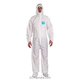 Alphatec Micro Gurd Coverall Suit PPE Medium Online at Kapruka | Product# elec00A2298