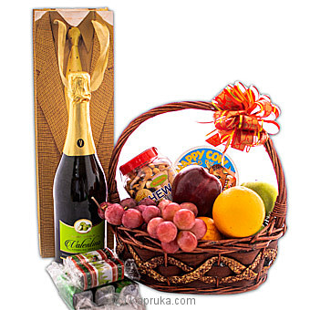 Sparkling Brilliance Fruit Hamper Online at Kapruka | Product# fruits00154