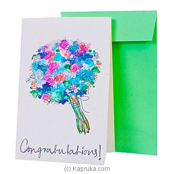 Hand Painted Congratulations Greeting Card Online at Kapruka | Product# greeting00Z220