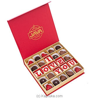 Java 'I Love You' 25 Piece Assorted Chocolates Online at Kapruka | Product# chocolates00964
