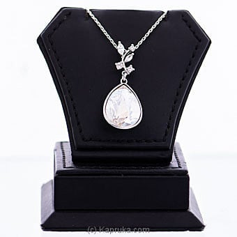 White Crystal Pendant With Necklace  Online at Kapruka | Product# jewllery00SK771