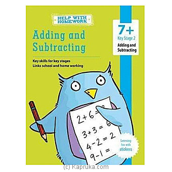 Help With Homework - Adding And Subtracting - 7+ Online at Kapruka | Product# book0270
