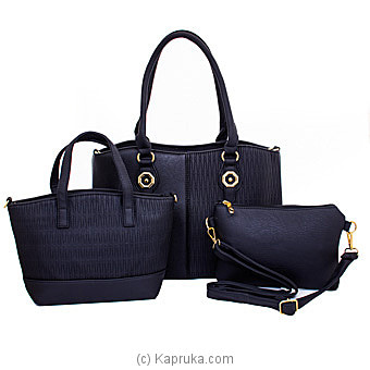 Women's 3 Piece Handbag Set Online at Kapruka | Product# fashion001574