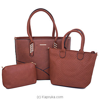 Women's 3 Piece Handbag Set  Online at Kapruka | Product# fashion001590