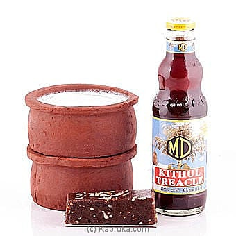 2 Curd Pots With MD Kithul Treacle And Kalu Dodol Online at Kapruka | Product# curd0005