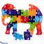 Shop in Sri Lanka for Colorful Children`s Elephant Wooden Puzzle A-Z Educational Toy