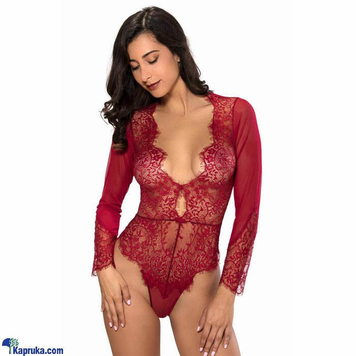 Sexy Teddy Lingerie-Dark Red Small Online at Kapruka | Product# clothing0520_TC1