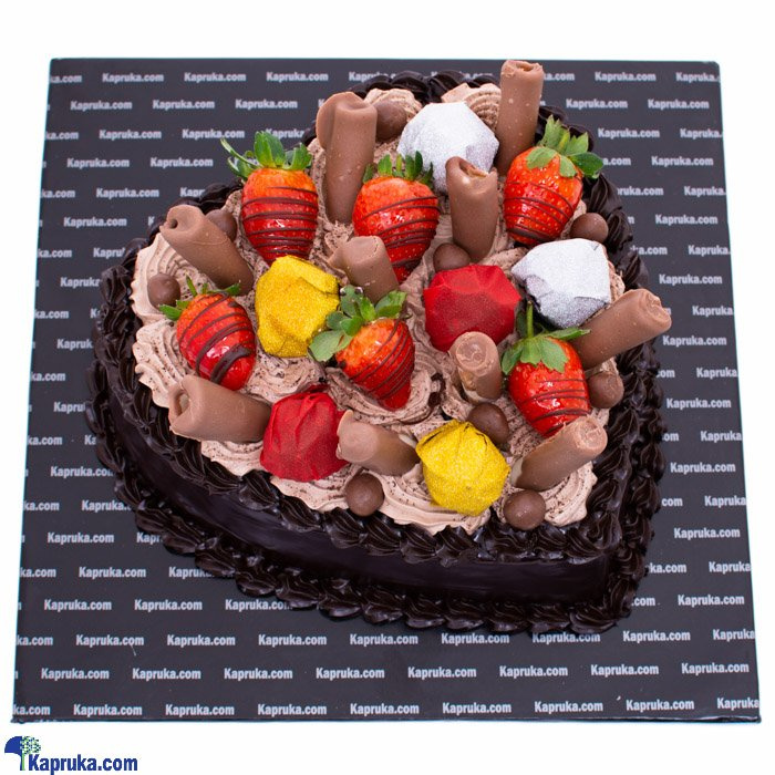 A Heart In Felicity Chocolate Gateau Online at Kapruka | Product# cake00KA001083