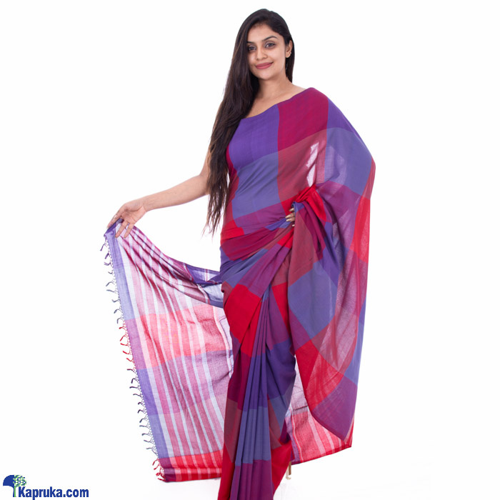Sliver Stripes Merron Line Handloom Saree Online at Kapruka | Product# clothing01155