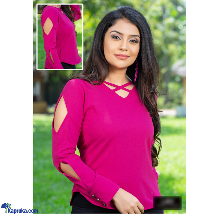 Criss Cross Long Sleeve Blouse - LHP012 Online at Kapruka | Product# clothing01746