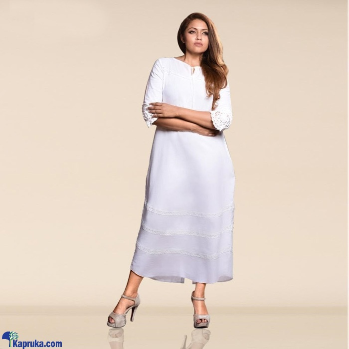 Linen Mixed Dress - 3020766 Online at Kapruka | Product# clothing02012
