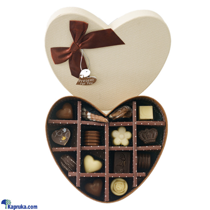 14 Piece Chocolate Box- Brown Heart(gmc) Online at Kapruka | Product# chocolates001032
