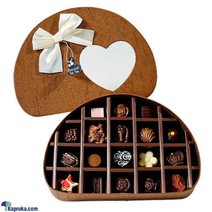 18 Piece Chocolate Half Circle Brown Box (GMC) Online at Kapruka | Product# chocolates001069
