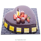 Premium Choco Strawberry Heart Cake