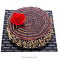 Floral Webbed Chocolate Cake