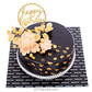 Happy Birthday Golden Touch Ribbon Cake
