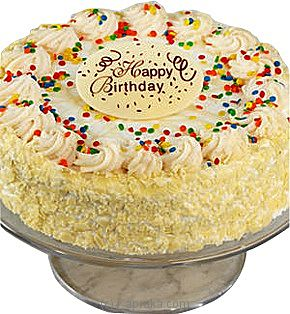 Birthday Vanilla Bean Cake With Happy Birthdaat Kapruka Online forintgift