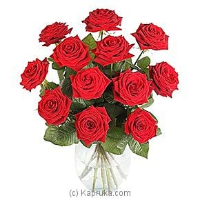 12 Luxury Red Roses at Kapruka Online for intgift
