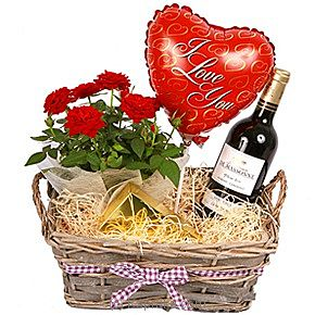 Red Wine Gift Basket - I Love You at Kapruka Online for intgift