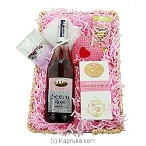 Pink Secco Gift Basket For Her at Kapruka Online for intgift