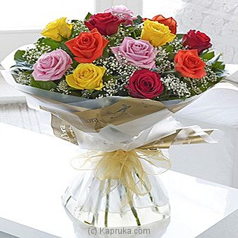 Heavenly Mixed Rose Hand-tied at Kapruka Online for intgift
