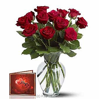 One Dozen Long Stem Red Roses at Kapruka Online for intgift
