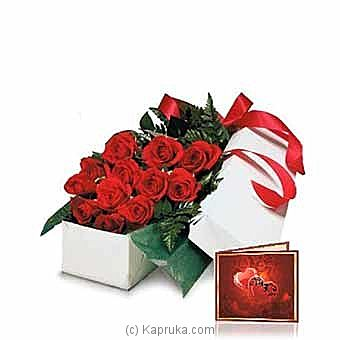 One Dozen Gift Boxed Red Roses at Kapruka Online for intgift