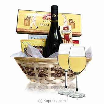 White Wine & Cheese Basket at Kapruka Online for intgift