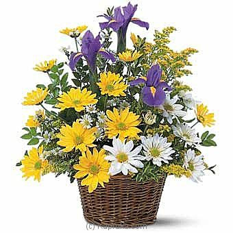 Smiling Floral Basket at Kapruka Online for intgift
