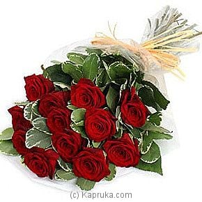 Bouquet Of 12 Red Roses - Kapruka Product intGift00212