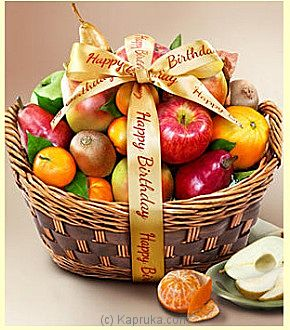 Happy Birthday Fruit Basket - Kapruka Product intGift00310
