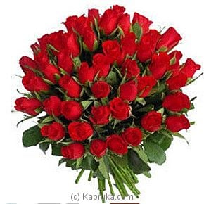Red Roses Bouquet 50 Flowers - Kapruka Product intGift00317
