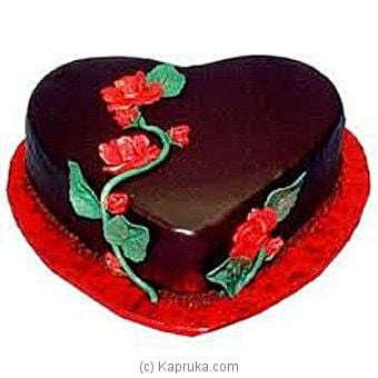 Heart Shape Chocolate Cake - Kapruka Product intGift00645