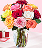 One Dozen Rainbow Roses at Kapruka Online for intgift