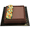 Welldeco Chocolate Cake With Flowers - 3Lb-(SHAPED CAKE) at Kapruka Online